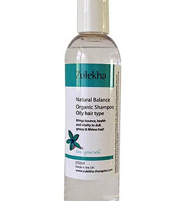 Oily hair type natural balance shampoo